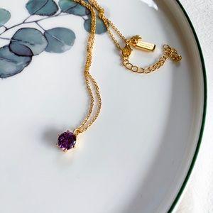 Kate Spade Stone Pendant Necklace - Purple